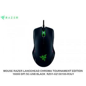 MOUSE RAZER LANCEHEAD CHROMA TOURNAMENT EDITION 16000 DPI 5G USB BLACK  RZ01-02130100-R3U1
