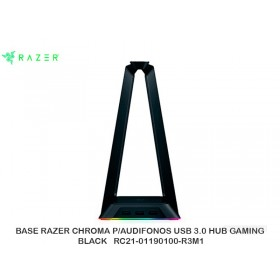 BASE RAZER CHROMA P/AUDIFONOS USB 3.0 HUB GAMING BLACK   RC21-01190100-R3M1