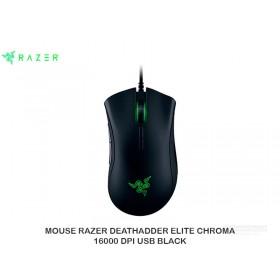 MOUSE RAZER DEATHADDER ELITE CHROMA 16000 DPI USB BLACK  RZ01-02010100-R3U1