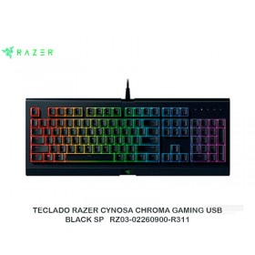 TECLADO RAZER CYNOSA CHROMA GAMING USB BLACK SP RZ03-02260900-R311