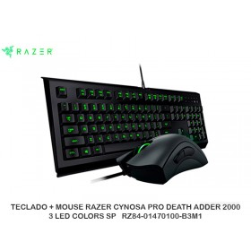 TECLADO + MOUSE RAZER CYNOSA PRO DEATH ADDER 2000 3 LED COLORS SP   RZ84-01470100-B3M1