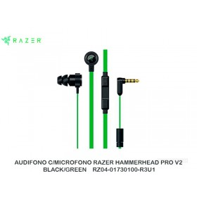 AUDIFONO C/MICROFONO RAZER HAMMERHEAD PRO V2 BLACK/GREEN    RZ04-01730100-R3U1