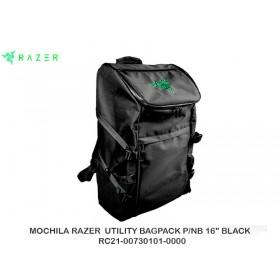 "MOCHILA RAZER  UTILITY BAGPACK P/NB 16"" BLACK  RC21-00730101-0000"