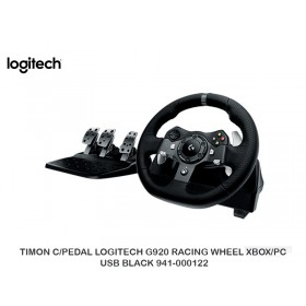 TIMON C/PEDAL LOGITECH G920 RACING WHEEL XBOX/PC USB BLACK 941-000122