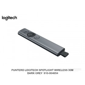 PUNTERO LOGITECH SPOTLIGHT WIRELESS 30M DARK GREY  910-004654