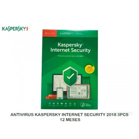 ANTIVIRUS KASPERSKY INTERNET SECURITY 2018 3PCS, 12 MESES