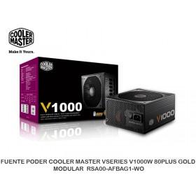 FUENTE PODER COOLER MASTER VSERIES V1000W 80PLUS GOLD MODULAR RSA00-AFBAG1-WO