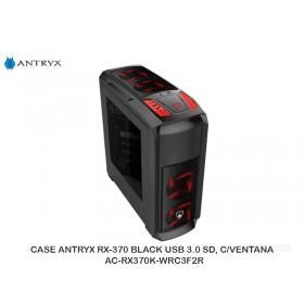 CASE ANTRYX RX-370 BLACK USB 3.0 SD, C/VENTANA, AC-RX370K-WRC3F2R
