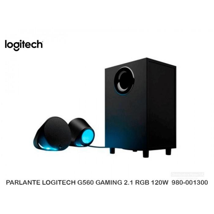 PARLANTE LOGITECH G560 GAMING 2.1 RGB 120W  980-001300