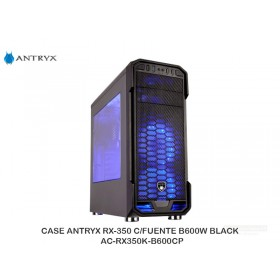 CASE ANTRYX RX-350 C/FUENTE B600W BLACK AC-RX350K-B600CP