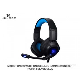 MICROFONO C/AUDIFONO XBLADE GAMING MONSTER HG8944 BLACK/BLUE