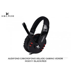 AUDIFONO C/MICROFONO XBLADE GAMING VENOM HG8311 BLACK/RED
