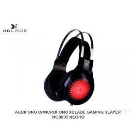 AUDIFONO C/MICROFONO XBLADE GAMING SLAYER HG8935 NEGRO