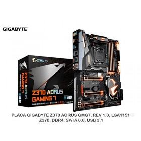 PLACA GIGABYTE Z370 AORUS GMG7, REV 1.0, LGA1151, Z370, DDR4, SATA 6.0, USB 3.1