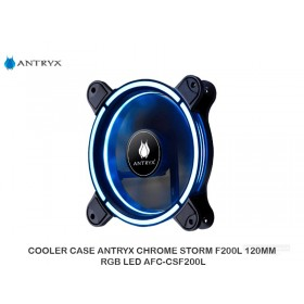 COOLER CASE ANTRYX CHROME STORM F200L 120MM RGB LED AFC-CSF200L