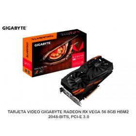 TARJETA VIDEO GIGABYTE RADEON RX VEGA 56 8GB HBM2, 2048-BITS, PCI-E 3.0