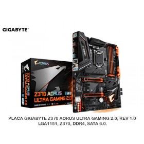 PLACA GIGABYTE Z370 AORUS ULTRA GAMING 2.0, REV 1.0, LGA1151, Z370, DDR4, SATA 6.0.