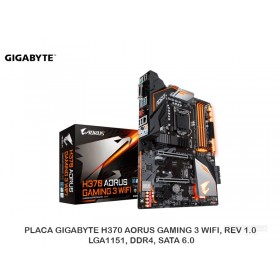 PLACA GIGABYTE H370 AORUS GAMING 3 WIFI, REV 1.0, LGA1151, DDR4, SATA 6.0