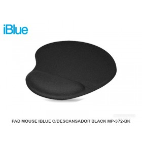 PAD MOUSE IBLUE C/DESCANSADOR BLACK MP-372-BK