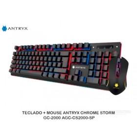 TECLADO + MOUSE ANTRYX CHROME STORM GC-2000 AGC-CS2000-SP