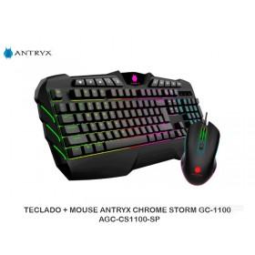 TECLADO + MOUSE ANTRYX CHROME STORM GC-1100  AGC-CS1100-SP