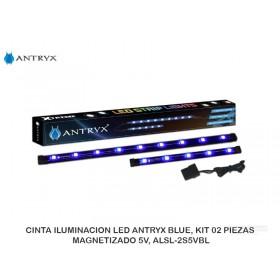 CINTA ILUMINACION LED ANTRYX BLUE, KIT 02 PIEZAS, MAGNETIZADO 5V, ALSL-2S5VBL