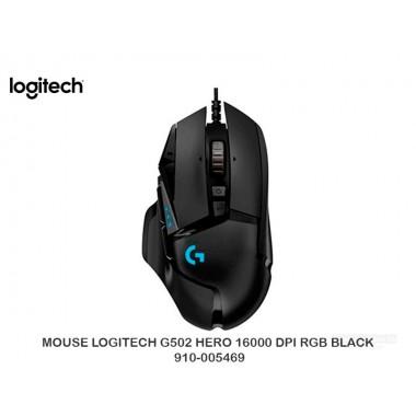 MOUSE LOGITECH G502 HERO 16000 DPI RGB BLACK 910-005469