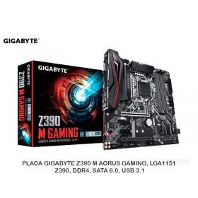 PLACA GIGABYTE Z390 M AORUS GAMING, LGA1151, Z390, DDR4, SATA 6.0, USB 3.1