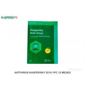 ANTIVIRUS KASPERSKY 2018 1PC 12 MESES