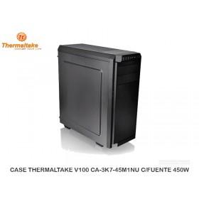 CASE THERMALTAKE V100 CA-3K7-45M1NU-01 C/FUENTE 450W