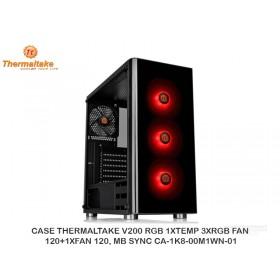 CASE THERMALTAKE V200 RGB 1XTEMP 3XRGB FAN 120+1XFAN 120, MB SYNC CA-1K8-00M1WN-01