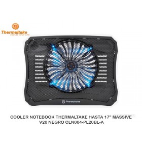"COOLER NOTEBOOK THERMALTAKE HASTA 17"" MASSIVE V20 NEGRO CLN004-PL20BL-A"
