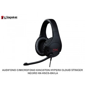 AUDIFONO C/MICROFONO KINGSTON HYPERX CLOUD STINGER NEGRO HX-HSCS-BK/NA