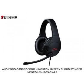 AUDIFONO C/MICROFONO KINGSTON HYPERX CLOUD STINGER NEGRO HX-HSCS-BK/LA