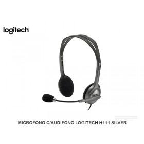 MICROFONO C/AUDIFONO LOGITECH H111 SILVER