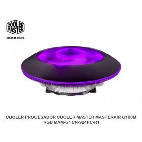 COOLER PROCESADOR COOLER MASTER MASTERAIR G100M RGB MAM-G1CN-924PC-R1