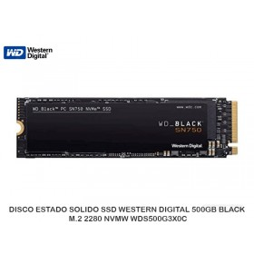 DISCO ESTADO SOLIDO SSD WESTERN DIGITAL 500GB BLACK M.2 2280 NVMW WDS500G3X0C