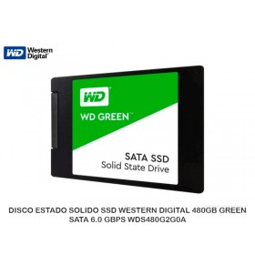 DISCO ESTADO SOLIDO SSD WESTERN DIGITAL 480GB GREEN, SATA 6.0 GBPS WDS480G2G0A
