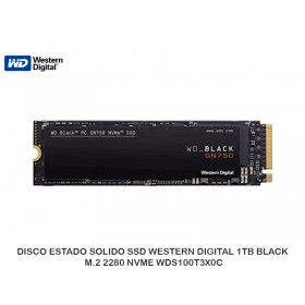 DISCO ESTADO SOLIDO SSD WESTERN DIGITAL 1TB BLACK M.2 2280 NVME WDS100T3X0C