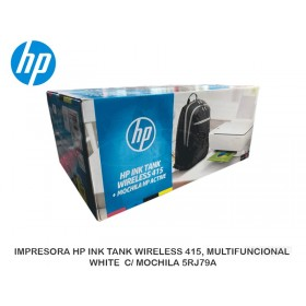 IMPRESORA HP INK TANK WIRELESS 415, MULTIFUNCIONAL WHITE  C/ MOCHILA 5RJ79A