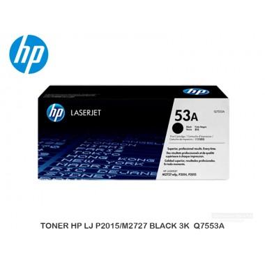 TONER HP LJ P2015/M2727 BLACK 3K Q7553A