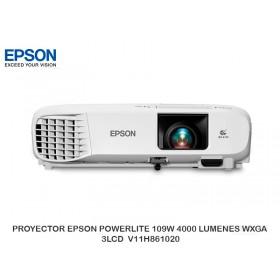 PROYECTOR EPSON POWERLITE 109W 4000 LUMENES WXGA 3LCD  V11H861020