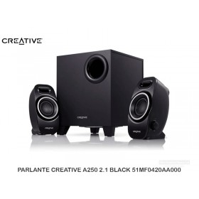 PARLANTE CREATIVE A250 2.1 BLACK 51MF0420AA000