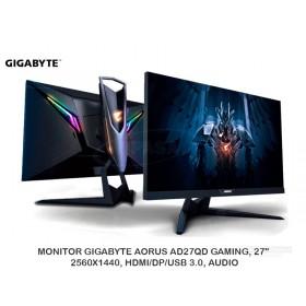 "MONITOR GIGABYTE AORUS AD27QD GAMING, 27"", 2560X1440, HDMI/DP/USB 3.0, AUDIO"