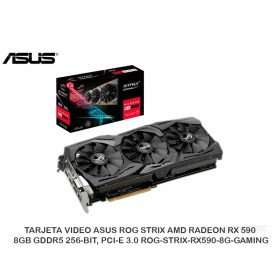 TARJETA VIDEO ASUS ROG STRIX AMD RADEON RX 590, 8GB GDDR5 256-BIT, PCI-E 3.0 ROG-STRIX-RX590-8G-GAMING