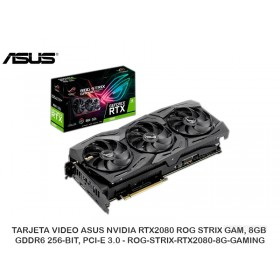 TARJETA VIDEO ASUS NVIDIA RTX2080 ROG STRIX GAM, 8GB GDDR6 256-BIT, PCI-E 3.0 - ROG-STRIX-RTX2080-8G-GAMING