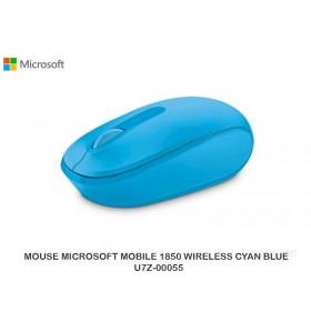 MOUSE MICROSOFT MOBILE 1850 WIRELESS CYAN BLUE  U7Z-00055