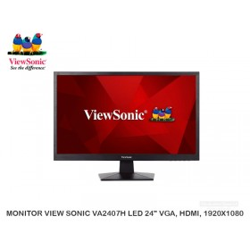 "MONITOR VIEW SONIC VA2407H LED 24"" VGA, HDMI, 1920X1080"