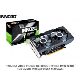 TARJETA VIDEO INNO3D GEFORCE GTX1650 TWIN X2 OC 4GB GDDR5 (N16502-04D5X-1510VA25)
