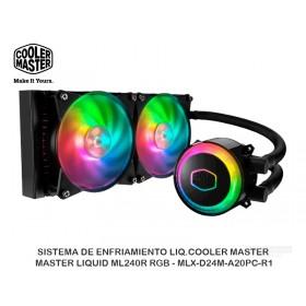 SISTEMA DE ENFRIAMIENTO LIQ.COOLER MASTER MASTER LIQUID ML240R RGB - MLX-D24M-A20PC-R1